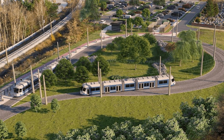 Wizualizacja pętli tramwajowej na Swojczycach