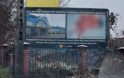 Plakat antyaborcyjny Wrocław