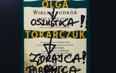 Olga Tokarczuk okaleczona ksiażka