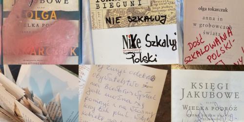 Zniszczone książki Olgi Tokarczuk